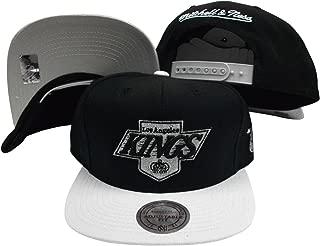 Los Angeles Kings Black/Grey Two Tone Snapback Adjustable Plastic Snap Back Hat/Cap