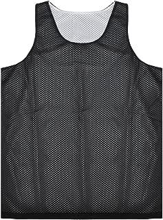 TOPTIE Men's Tank Top, Reversible Mesh Tank, Basketball Jerseys, Lacrosse Jersey