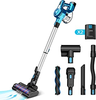 INSE Cordless Vacuum Cleaner with 2 Batteries, 23KPa Powerful Suction Stick Vacuums, Handheld Bed Vac Rechargeable 2500mAh...