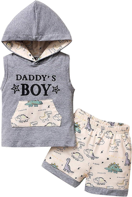 Toddler Baby Boy Dinosaur Pant Set Long Sleeve t-Shirt Tops Sweatsuit Pants Fall Winter Outfit Set