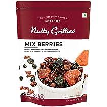 Nutty Gritties Mix Berries – Dried Cranberries, Blueberries, Strawberries, Black Currants – Healthy Snack