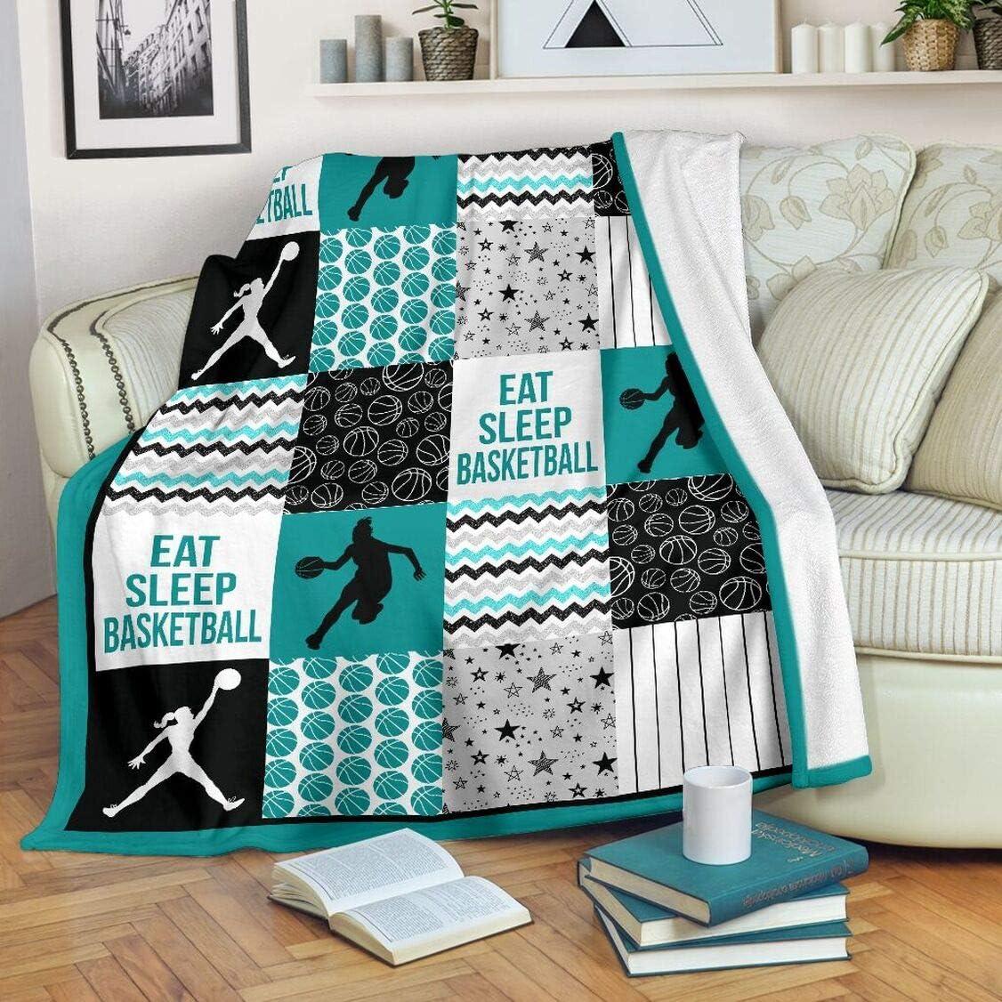 5 ☆ very popular Personalized Basketball Shape Pattern Blanket Print Boston Mall Soft a Super