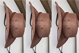 Universal - DIY Metal Adjustable Rack - Cowboy Hat Rack, Fold-Up Wall Hanging Storage Display,Cowboy Hat Holder,Cowboy Hat Organizer,Cowboy Hat Dryer Stand - Self-adhesive (no need for drilling) 3pack