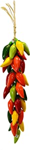 Small RISTRA/String of Ceramic Jalapeno Peppers, with 35-40 PEPPERS-20 Long
