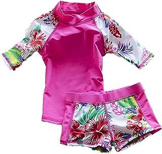 Baby Girls Kids Toddler 2 Piece Swimwear Rash Guard UV Sun Protection Swimsuit Bathing Suits