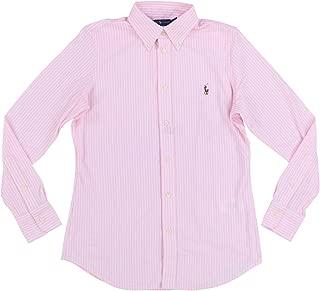 Womens Knit Oxford Button Down Shirt