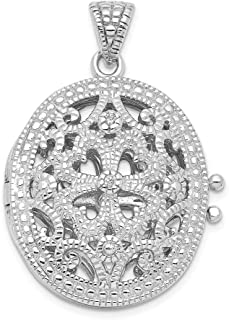 925 Sterling Silver Cubic Zirconia Cz Photo Pendant Charm Locket Chain Necklace That Holds Pictures Oval Fine Jewelry Gifts For Women For Her