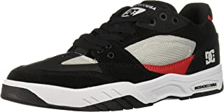 DC Mens Maswell Grey Black Red Shoes Size