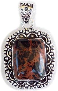 Sodalite Pendant, Silver Plated Brass Pendant, Handmade Pendant, Gift Jewelry, Women Jewellry, Fashion Jewellry, BRS-12368