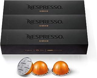 Nespresso Capsules VertuoLine, Giornio, Mild Roast Coffee, 30 Count Coffee Pods, Brews 7.8 oz