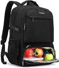 کوله پشتی لپ تاپ CoolBELL 15.6 اینچ کوله پشتی ناهار مسافرتی چند منظوره با محفظه عایق بندی شده / پورت USB کوله پشتی بسکتبال مخصوص پیاده روی مقاوم در برابر آب برای زنان کار مردان (مشکی)