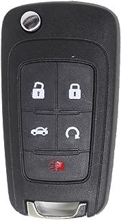 Keyless2Go New Keyless Remote 5 Button Flip Car Key Fob Select Impala Malibu Cruze Equinox and Other Vehicles That Use FCC OHT01060512