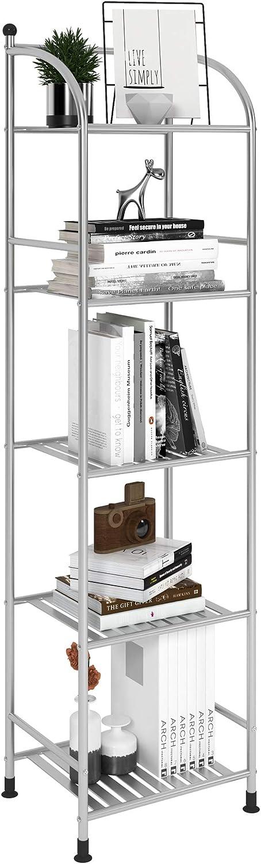 FKUO Gorgeous 5 Tier Bathroom Storage Free-Standing Free shipping New Open Unit Shelf Meta