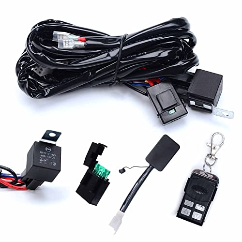kawell heavy duty led light bar wiring harness kit with 14 awg wiring 40amp  relay on