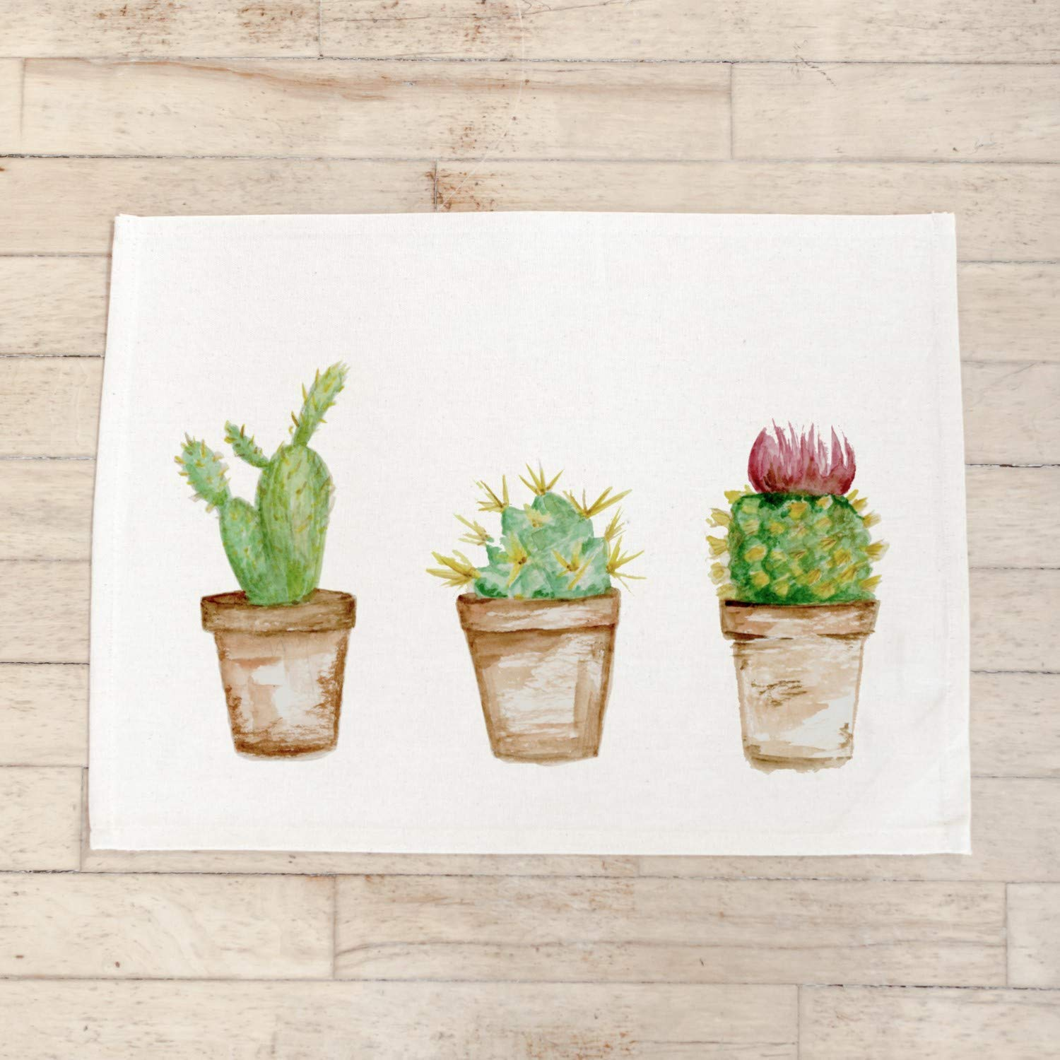 Max 58% OFF Japan's largest assortment Placemat Set - Cactus Watercolor Handmade home USA dec in the