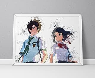 Kimi No Na Wa Print, Your Name Print, Kimi No Na Wa Poster, Your Name Poster, Anime Poster, Anime Print Watercolor N.001 (12 x 16 inch)