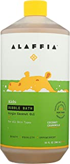 Alaffia Everyday Coconut Bubble Bath for Babies and Kids, Gentle for Sensitive to Very Dry Skin Types, Ethically Traded, Non-GMO, Coconut Chamomile, 32 Ounces
