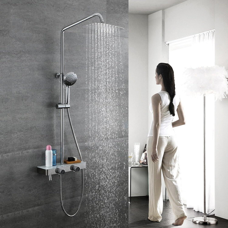 YCRD Top Dusche Wasserhahn Duschsystem Wand Lagerung Alle Bronze Hei und Kaltwasser Mixer Handbrause Mixer Unter Wasser Dusche Set