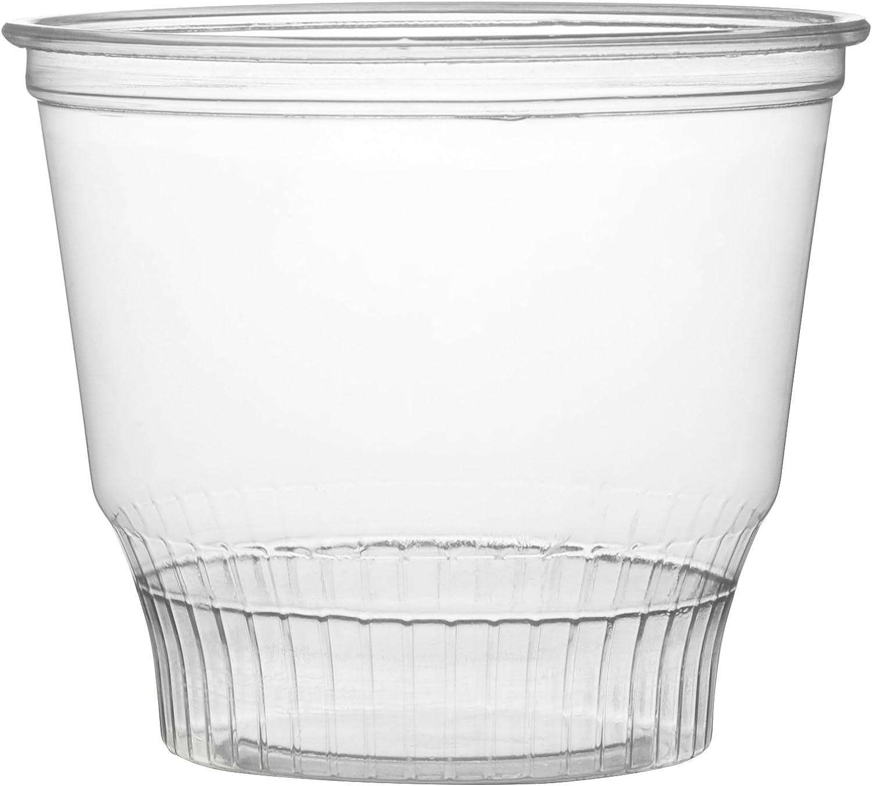 Fineline Super Sips 311298 98mm PET Sundae Dessert Cup, 12 oz, Clear