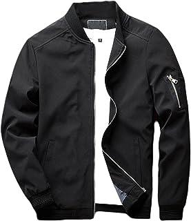 sandbank Men's Slim Fit Lightweight Sportswear Flight Bomber Jacket Softshell Casual Coat