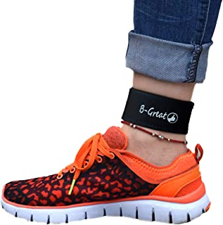 B-Great Ankle Band for Men and Women Compatible with Fitbit Flex 2/One/Zip/Charge 2 3/Alta HR or Garmin Vivofit/2/3/4/JR Fitness Tracker (Black,  Medium)