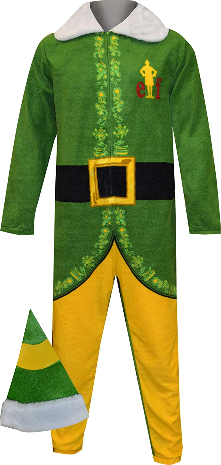 Warner Bros. Men's Buddy The Elf Like Onesie Look Pajama w All items free shipping Free shipping anywhere in the nation