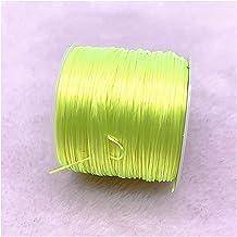 50m / roll sterke stretchy kralen kleurrijke elastische kristallen koord draad draad touw voor sieraden maken DIY armbande...