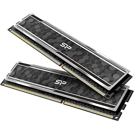 Silicon Power Gaming Series DDR4 32GB (16GBx2) 3200MHz (PC4 25600) 288-pin CL16 1.35V UDIMM Desktop Memory Module RAM with Heatsink Grey SP032GXLZU320BDAJ7