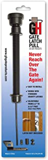 GH Gate Products EZHT001 Gate Latch Pull Gate Opener Black Adjustable from 2.25