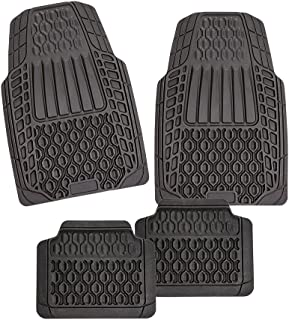 Autogummimatten ROT Auto Fußmatten Set Universal Automatten Gummimatten 4-tlg.