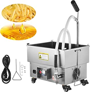 VEVOR Mobile Fryer Filter 44LB. Capacity Oil Filtration System 300W Fryer Filter Frying Oil Filtering System 110v/60Hz (Oil Capacity 22L/5.8 Gallon)