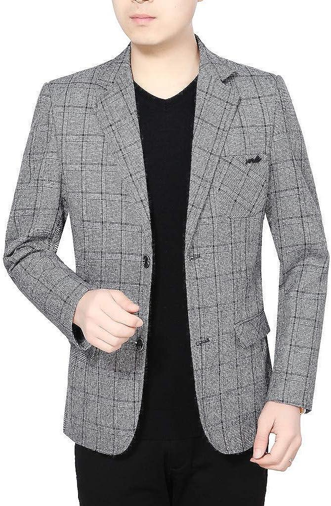 Casual Men Sport Coat Blazer Business Wedding Party Outwear Coat Suit Long Sleeve Jacket