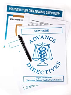 Kit Includes Two New York (or TX, FL, CA) Living Wills, Advance Directives to Physicians and New York Medical Power of Att...