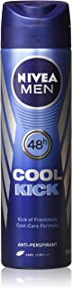Nivea Cool Kick Deo for Men Spray 48 Hr Antiperspirant 150ml (Pack of 3)