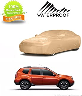 MotRoX Waterproof Car Body Cover for Renault Duster (American Matty-Beige Color)