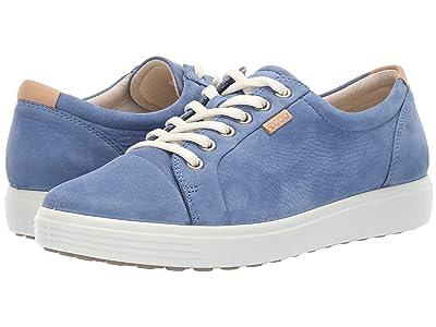 ECCO Soft 7 Sneaker (Retro Blue Cow Nubuck) Women