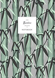 Bamboo Notebook - Lined Pages - A4 - Large: (Grey Edition) Notebook 192 lined pages (A4 / 8.27x11.69 inches / 21x29.7cm)