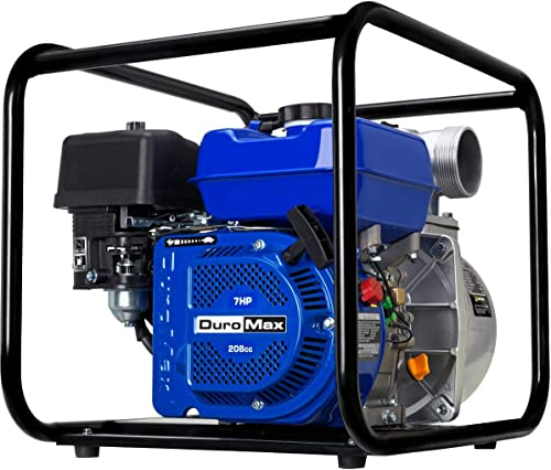 new arrival DuroMax popular XP650WP 208cc 220-Gpm 3,600-Rpm 3-Inch Gasoline Engine Portable high quality Water Pump, 50 State Approved, XP650WP, Blue sale