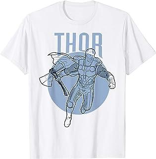Marvel Avengers Endgame Thor Outline Poster T-Shirt