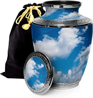 Prime Preferred Choice Heavenly Clouds Cremation Urns for Human Ashes Adult, Urns for Ashes, Cremation Urns for Adult Ashes 200 Cubic Inches, Adult Large