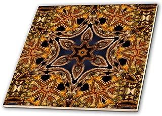 3dRose ct_42362_4 Turkish Decorative Flower Mandala-Ceramic Tile, 12-Inch