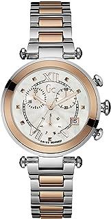 GUESS - Reloj Analógico para Mujer de Cuarzo con Correa en Acero Inoxidable Y05002M1
