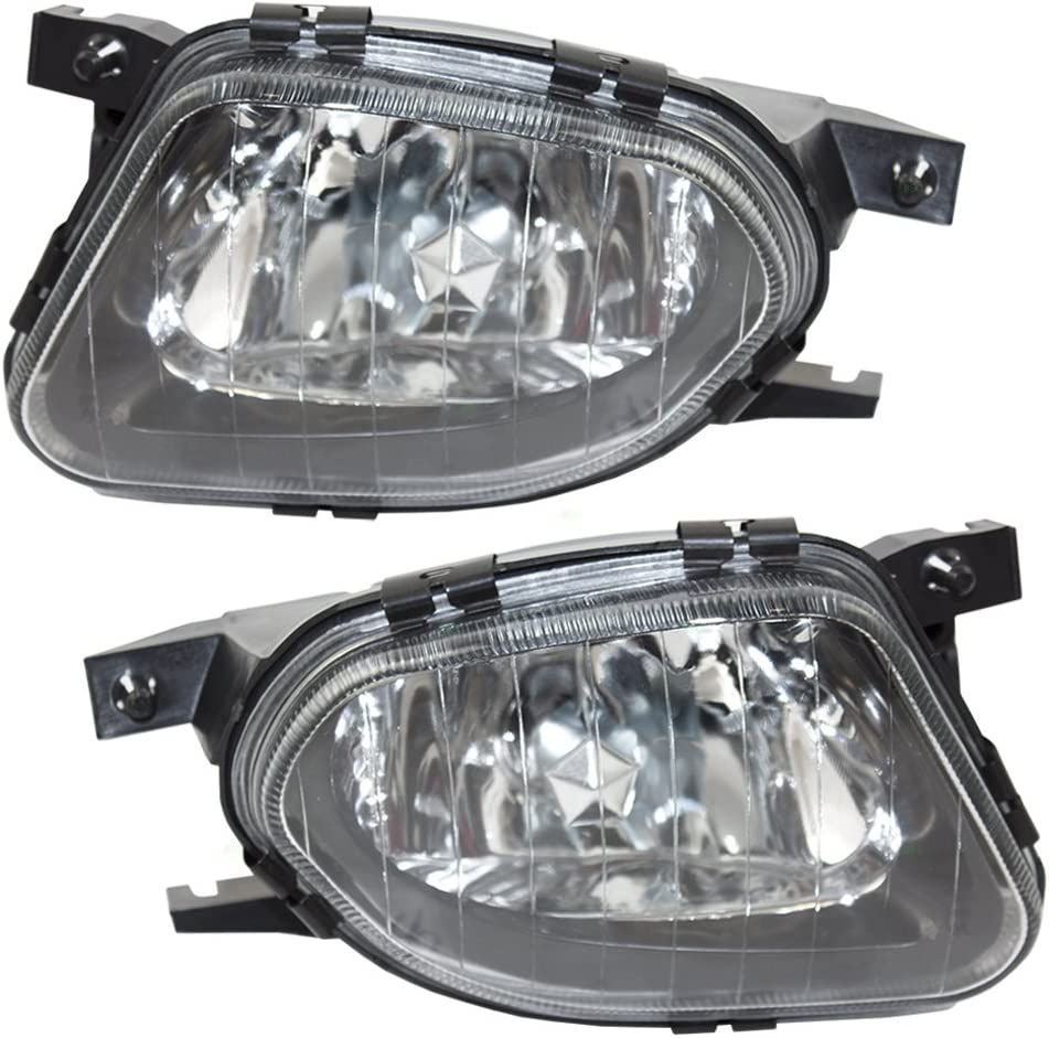 Brock Replacement Driver and Passenger Sacramento Mall w Fog Black Special price for a limited time Lamps Lights