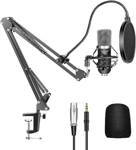 Neewer NW-700 Microphone à Condensateur Professionnel Enregistrement Studio & NW-35 Support de Microphone à Bras de C...
