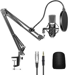 Neewer 40084747 - Kit de NW-700 Micrófono Condensador para Radiodifusión y Grabación, NW-35 Soporte de brazo Ajustable en ...