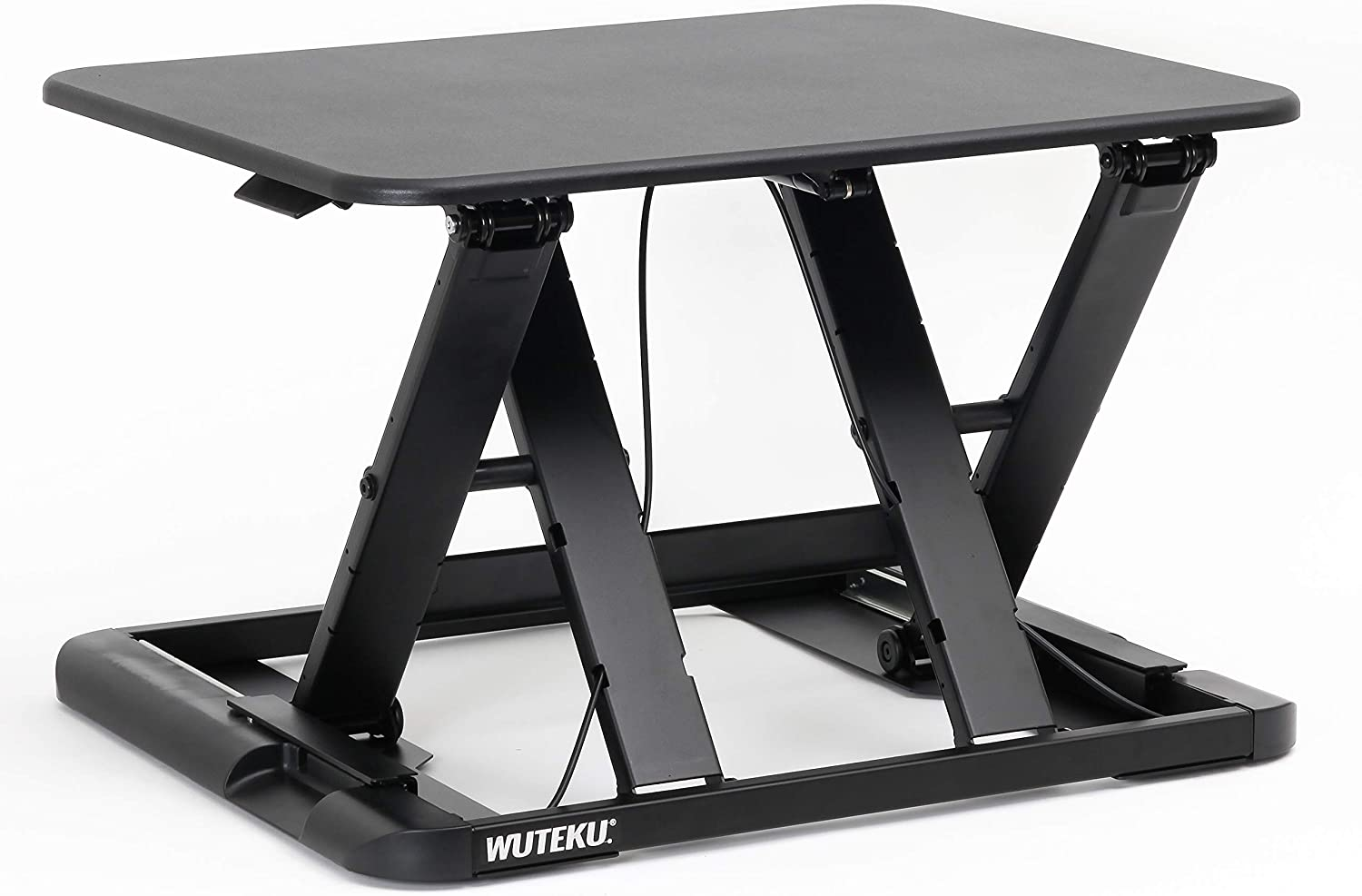 "Height Adjustable Stand Up Desk Congreener Ergonomic Sit Stand Riser   Flat Top Table Size 22""x26"" Supports 30lbs   No Assembly Required   Premium Quality and Very Sturdy   Perfect for Laptops or iMacs"