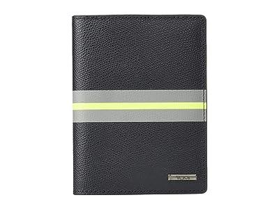 Tumi Province Passport Cover (Black Stripe) Wallet