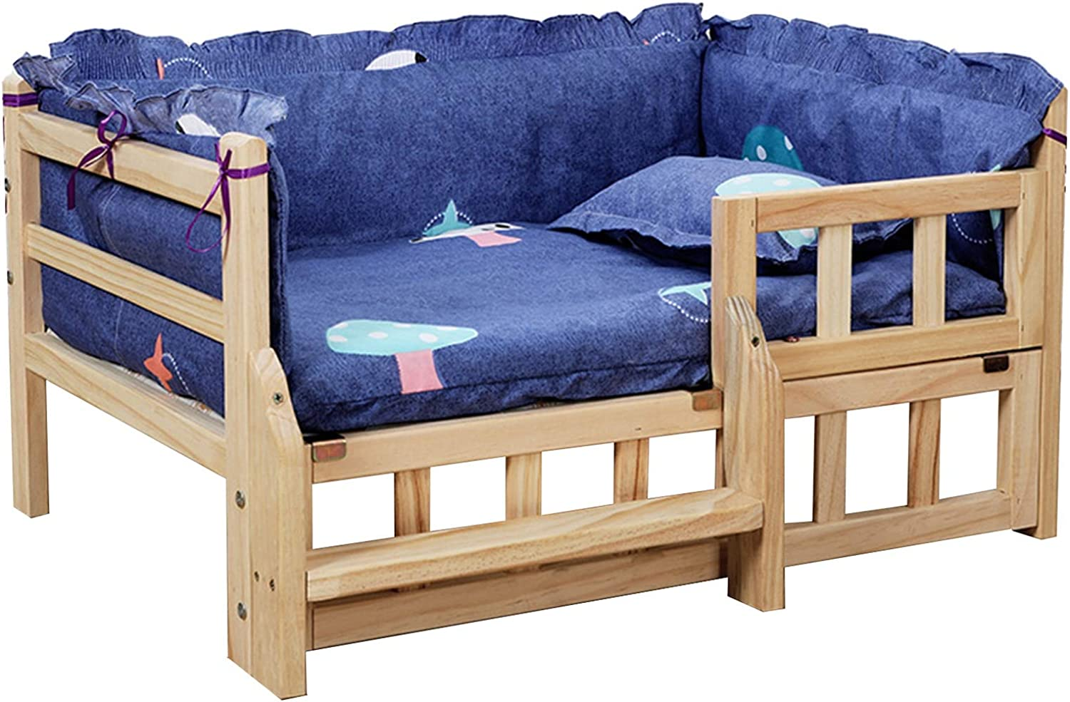 LXLA Wooden Today's only Elevated Dog Over item handling ☆ Bed P Washable with Mattress Removable