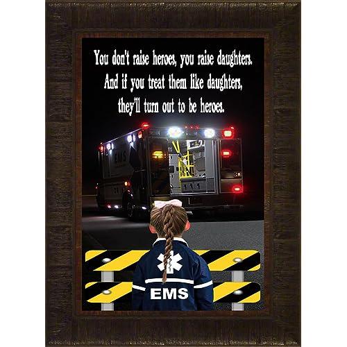 Medics on Alert Valor EMT Medic Doctor Nurse Collectible Photo Picture Frame