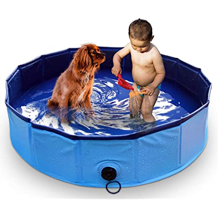 Marunda Foldable Dog Pool Pet Swimming Pool For Dog Pools For Large Dogs 47 X 12 Inch For Slip Resistant Material Kids Pool Pet Supplies